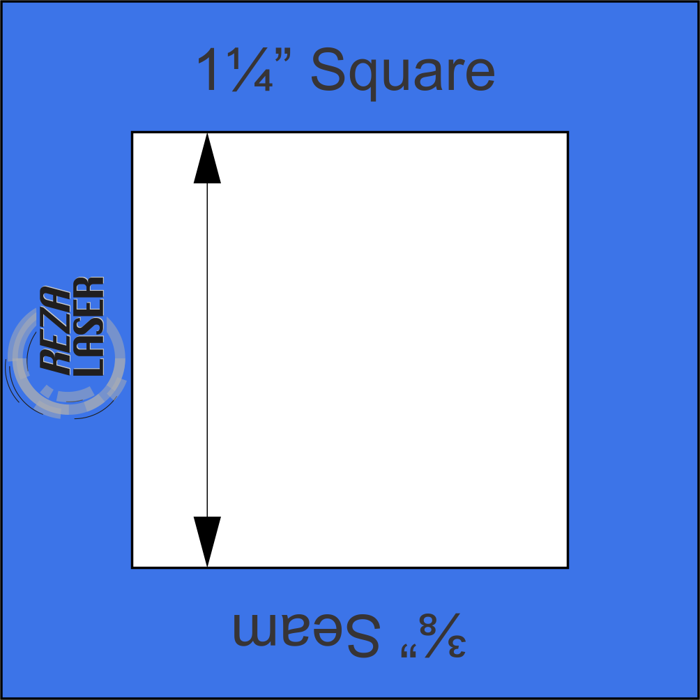 Square 1 1/4 Inch - Acrylic Template - I SPY with 3/8 Inch Seam Allowance