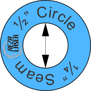 "Circle - ½"" Inch - Acrylic Template - I SPY with ¼"" Seam Allowance"