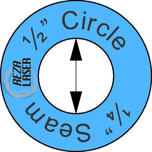 "Circle - ½"" Inch - Acrylic Template - I SPY with ¼"" Seam Allowance"