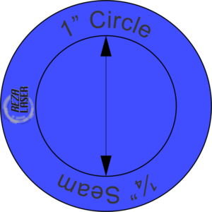 "Circle - 1"" Inch - Acrylic Template - SOLID with ¼"" Seam Allowance"