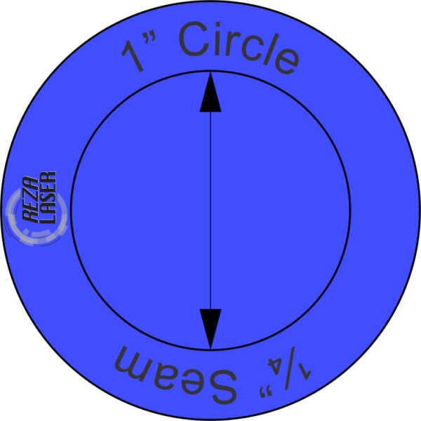 """Circle - 1"""" Inch - Acrylic Template - SOLID with ¼"""" Seam Allowance"""