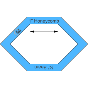 "Honeycomb 1"" Inch - Acrylic Template - I SPY with ¼"" Seam Allowance"