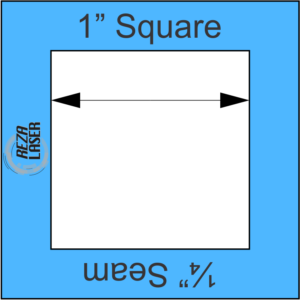"Square 1"" Inch - Acrylic Template - I SPY with ¼"" Seam Allowance"
