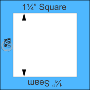 "Square 1¼"" Inch - Acrylic Template - I SPY with ¼"" Seam Allowance"