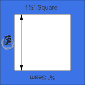 "Square 1½"" Inch - Acrylic Template - I SPY with ⅜"" Seam Allowance"