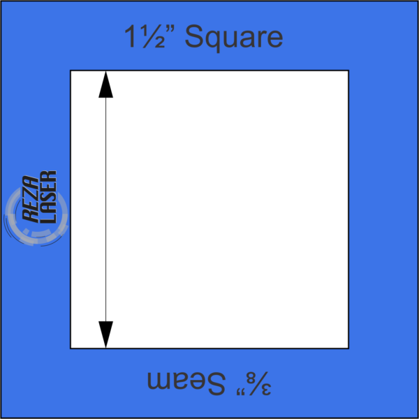 """Square 1½"""" Inch - Acrylic Template - I SPY with ⅜"""" Seam Allowance"""