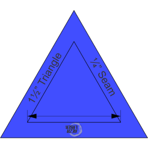 "Triangle - (60 Degree) Equilateral - 1½"" Inch - Acrylic Template - SOLID with ¼"" Seam Allowance"
