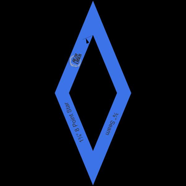 "Diamond - (45 Degree) 8 Point Star - 1¾"" Inch - Acrylic Template - I SPY with ⅜"" Seam Allowance"