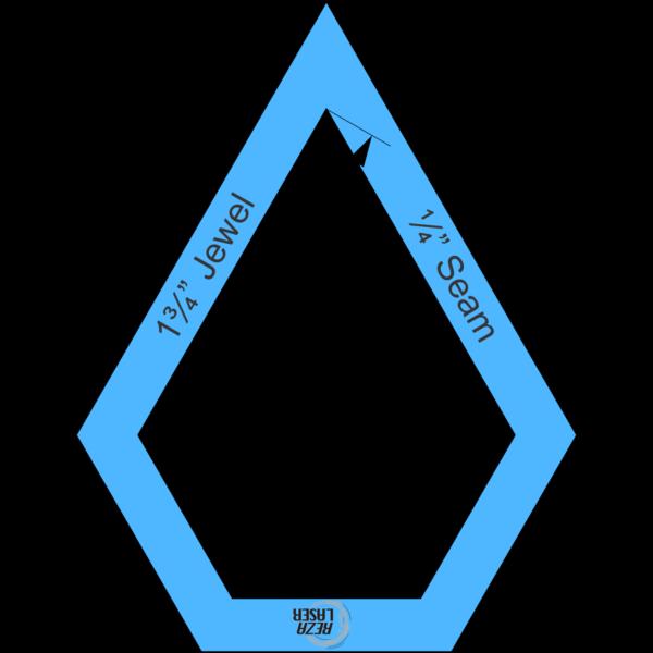 """Jewel 1¾"""" Inch - Acrylic Template - I SPY with ¼"""" Seam Allowance"""