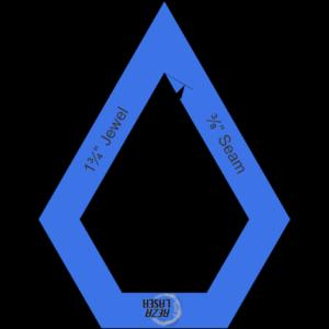"""Jewel 1¾"""" Inch - Acrylic Template - I SPY with ⅜"""" Seam Allowance"""