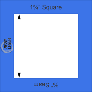 "Square 1¾"" Inch - Acrylic Template - I SPY with ⅜"" Seam Allowance"