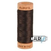Aurifil - 80wt - Hand Applique Thread - 280 mts - Colour 1130 Very Dark Bark