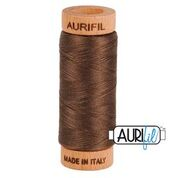 Aurifil - 80wt - Hand Applique Thread - 280 mts - Colour 1140 Bark