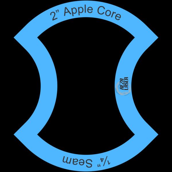 "Apple Core - 2"" Inch - Acrylic Template - I SPY with ¼"" Seam Allowance"