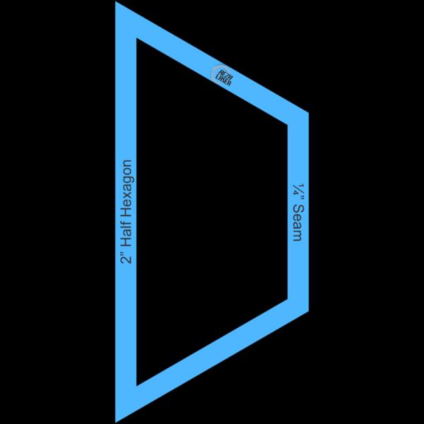 "Hexagon Half 2"" Inch - Acrylic Template - I SPY with ¼"" Seam Allowance"