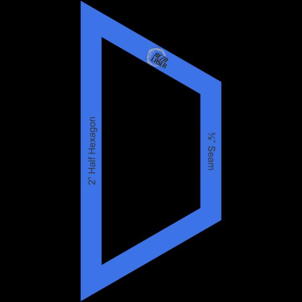 "Hexagon Half 2"" Inch - Acrylic Template - I SPY with ⅜"" Seam Allowance"