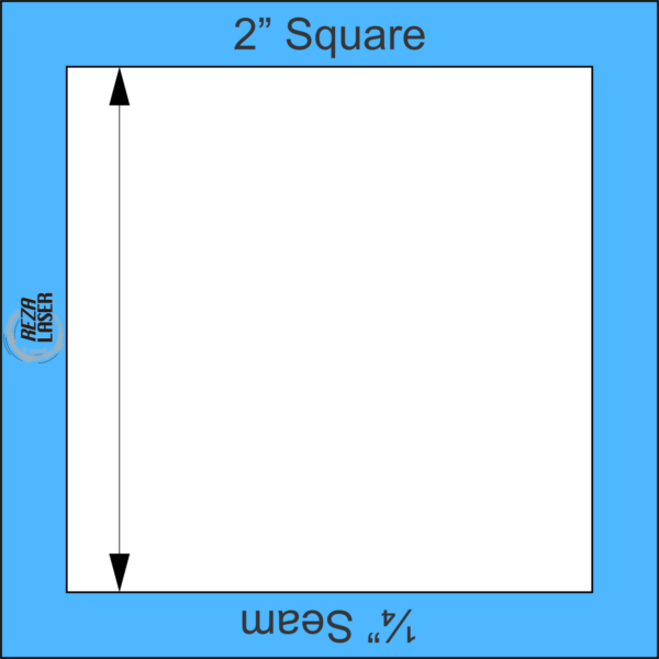 """Square 2"""" Inch - Acrylic Template - I SPY with ¼"""" Seam Allowance"""