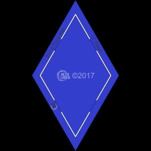 "Diamond - (60 Degree) 6 Point Star - 1¼"" Inch - Acrylic Template - KEYHOLE with ¼"" Seam Allowance"