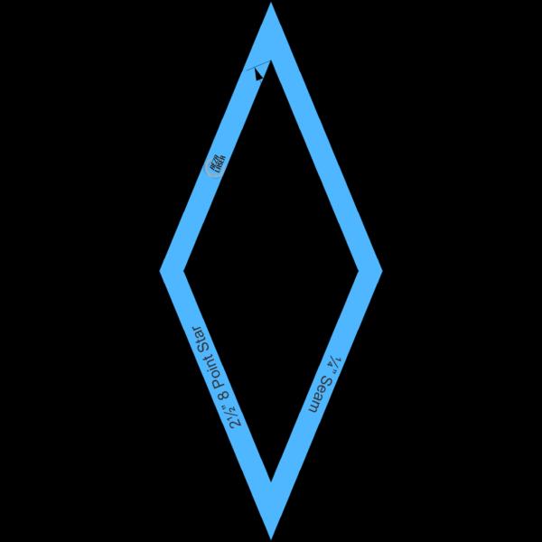 "Diamond - (45 Degree) 8 Point Star - 2½"" Inch - Acrylic Template - I SPY with ¼"" Seam Allowance"
