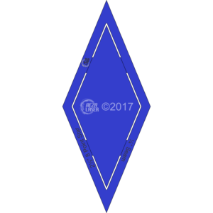 "Diamond - (45 Degree) 8 Point Star - 2½"" Inch - Acrylic Template - KEYHOLE with ¼"" Seam Allowance"