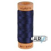 Aurifil - 80wt - Hand Applique Thread - 280 mts - Colour 2785 Very Dark Navy