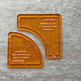 Drunkards Path Template Block Set - 3 Inch - Keyhole