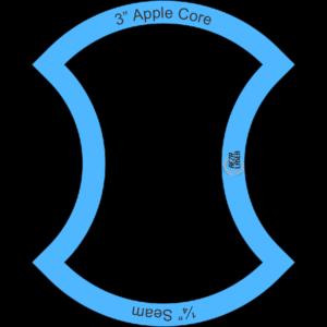 "Apple Core - 3"" Inch - Acrylic Template - I SPY with ¼"" Seam Allowance"