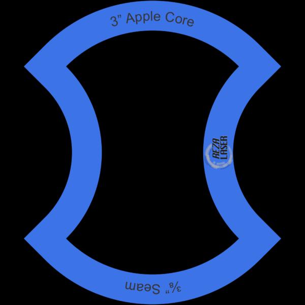 "Apple Core - 3"" Inch - Acrylic Template - I SPY with ⅜"" Seam Allowance"