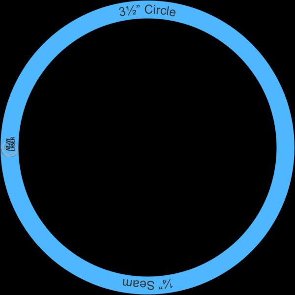 "Circle - 3½"" Inch - Acrylic Template - I SPY with ¼"" Seam Allowance"