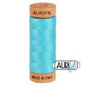Aurifil - 80wt - Hand Applique Thread - 280 mts - Colour 5005 Bright Turquoise