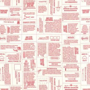 Volume II - 5610 11 - Red & Cream Newsprint