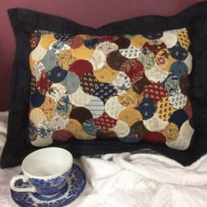 Clam Shell Cushion - Full Kit - Pattern, Acrylic Template, Papers & Fabric