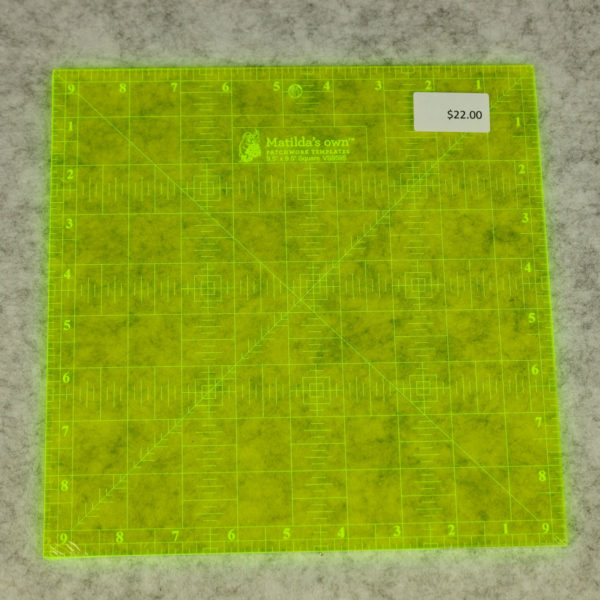 Matilda's Own - Ruler - 9½ Inch Square