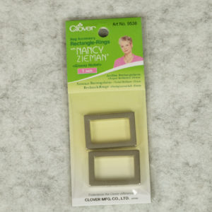 Clover - Nancy Zieman - Rectangle Rings - 1 Inch - Pkt 2