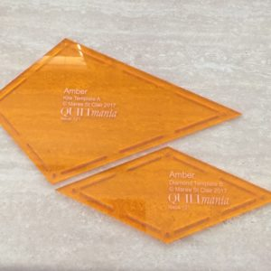 Amber Template Set - Acrylic Template - Keyhole with Seam Allowance