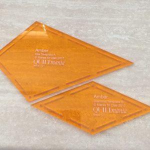 Amber Template Set - Acrylic Template - Keyhole with Seam Allowance