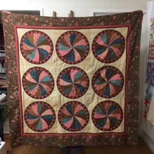 Floral Wheel Quilt Kit - Templates, Pattern and Fabric for the Top