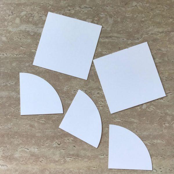 Four Circles Squared - Jockeys Cap - Drunkards Path - Quarter Circle Papers - Packet 96