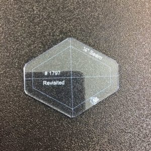 "#1797 Snipped Diamond (60 Degree) - Acrylic Template - Solid with 1/4"" Seam Allowance"