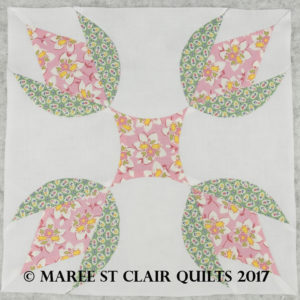 Mary's Rose Template Block Set - 12 Inch - Keyhole