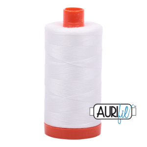 Aurifil - 50wt - Hand & Machine Piecing Thread - 1300 mts - Colour 2021 Natural White
