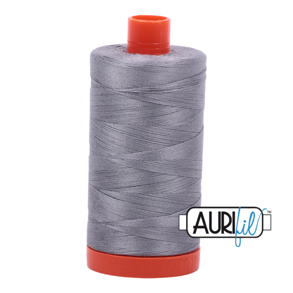 Aurifil - 50wt - Hand & Machine Piecing Thread - 1300 mts - Colour 2605 Grey